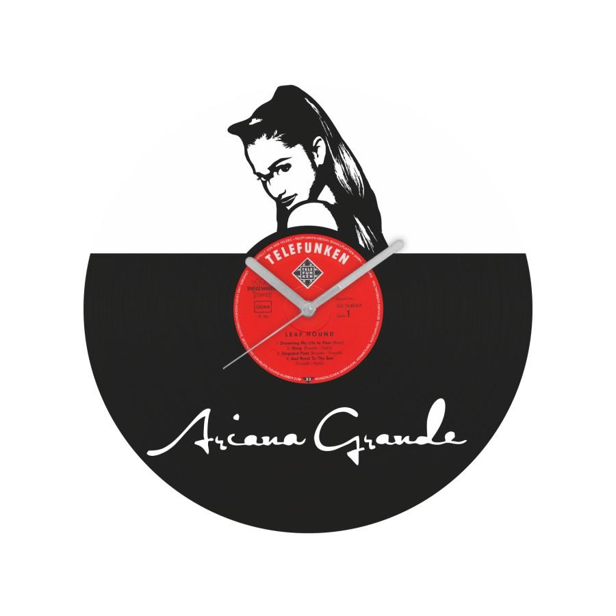 Ariana Grande laikrodis iš perdirbtos vinilinės plokštelės