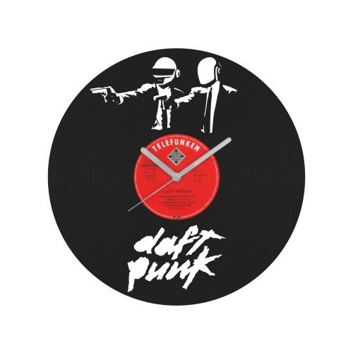 Daft Punk v1 laikrodis iš perdirbtos vinilinės plokštelės