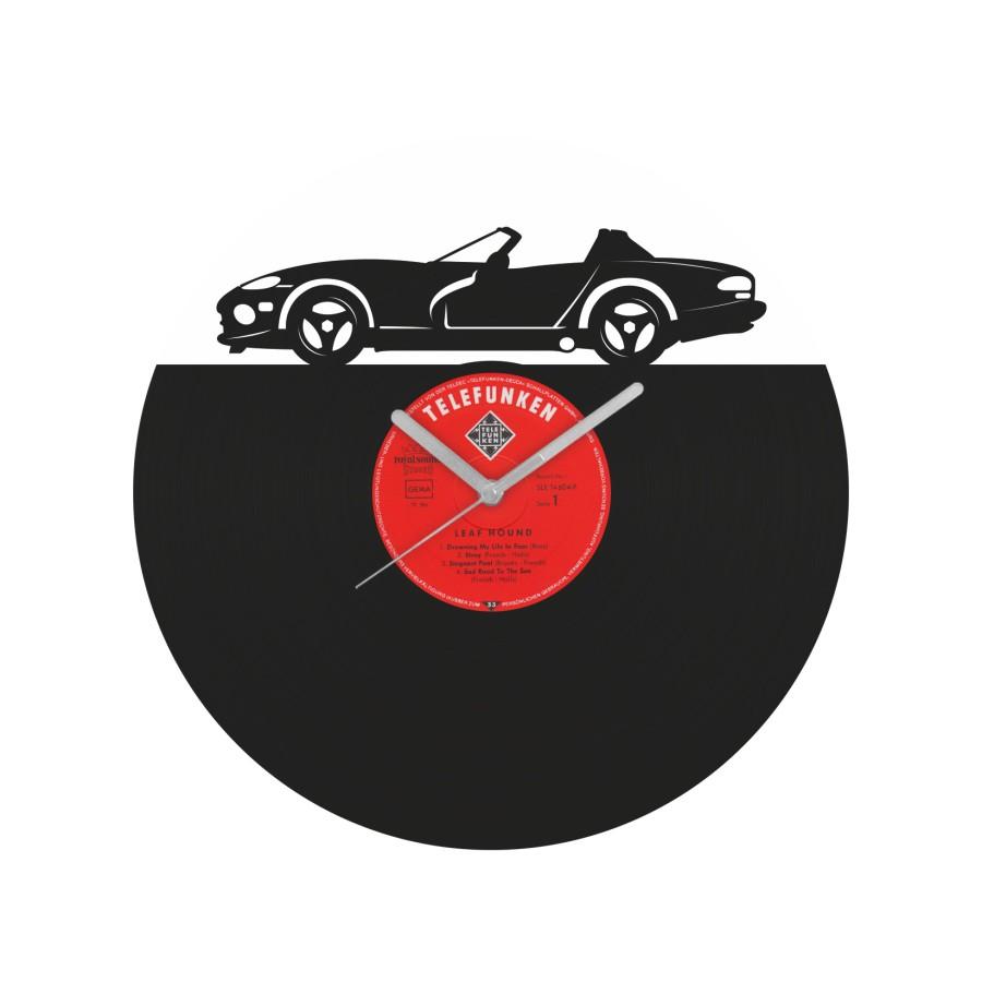 Dodge Viper laikrodis iš perdirbtos vinilinės plokštelės