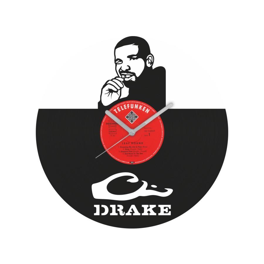 Drake laikrodis iš perdirbtos vinilinės plokštelės