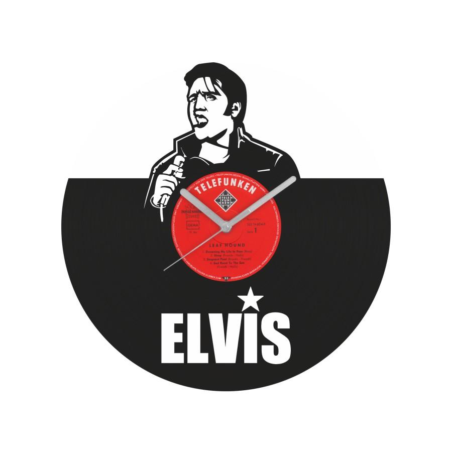 Elvis Presley laikrodis iš perdirbtos vinilinės plokštelės