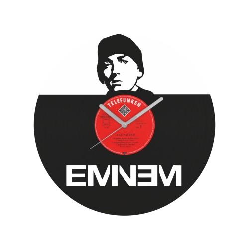 Eminem laikrodis iš perdirbtos vinilinės plokštelės