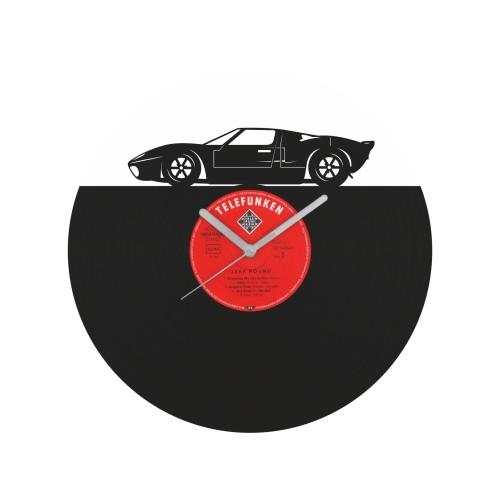 Ford GT40 laikrodis iš perdirbtos vinilinės plokštelės