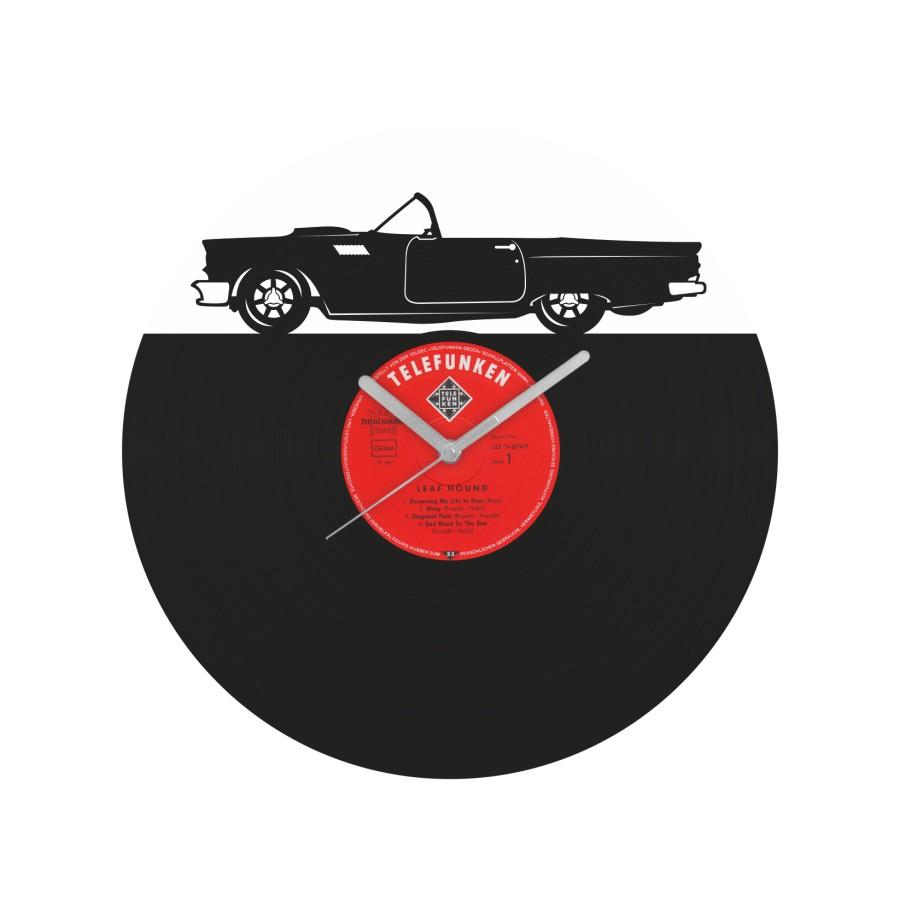 Ford Thunderbird laikrodis iš perdirbtos vinilinės plokštelės
