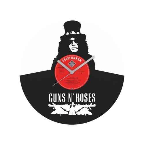 Guns N' Roses laikrodis iš perdirbtos vinilinės plokštelės