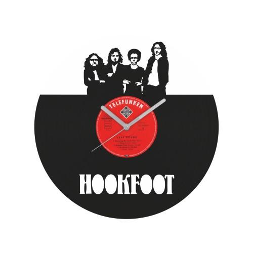 Hookfoot laikrodis iš perdirbtos vinilinės plokštelės