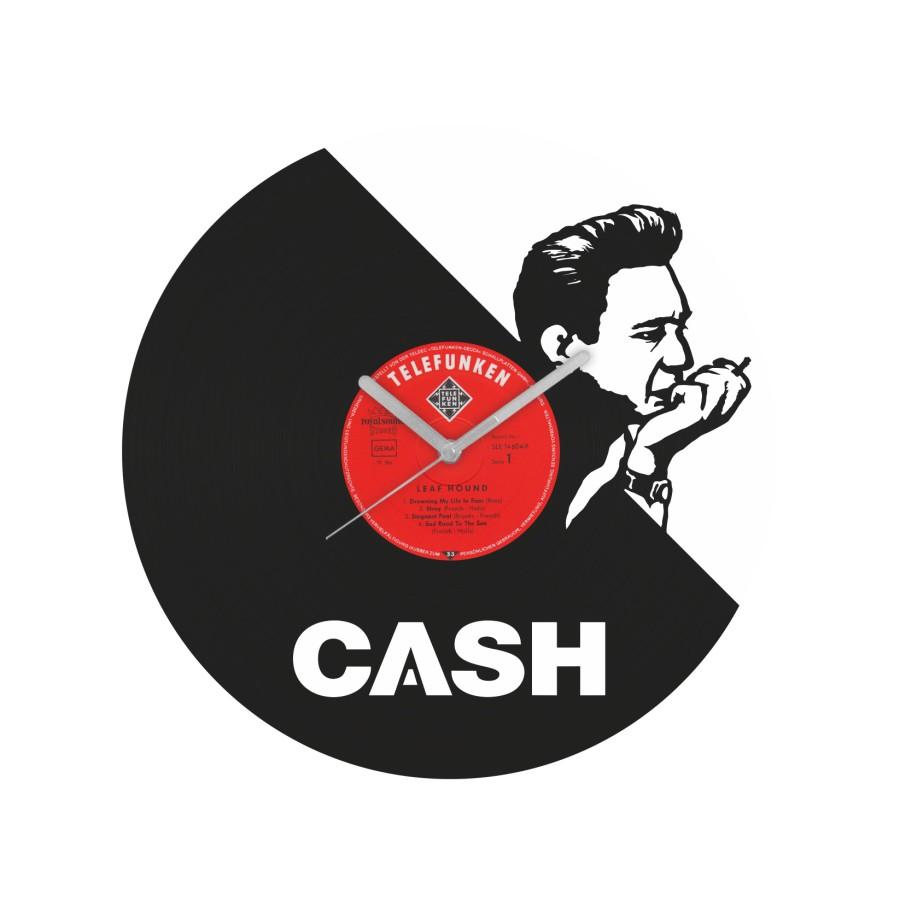 Johnny Cash laikrodis iš perdirbtos vinilinės plokštelės