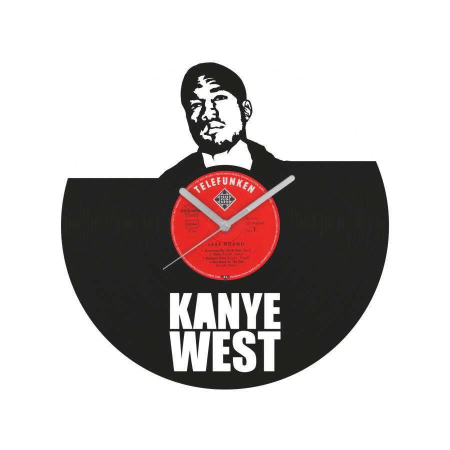 Kanye West laikrodis iš perdirbtos vinilinės plokštelės