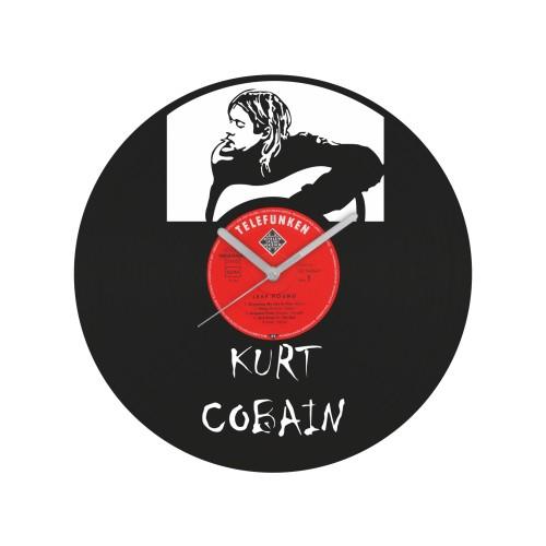 Kurt Cobain laikrodis iš perdirbtos vinilinės plokštelės