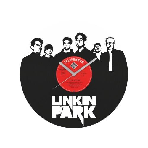 Linkin Park laikrodis iš perdirbtos vinilinės plokštelės