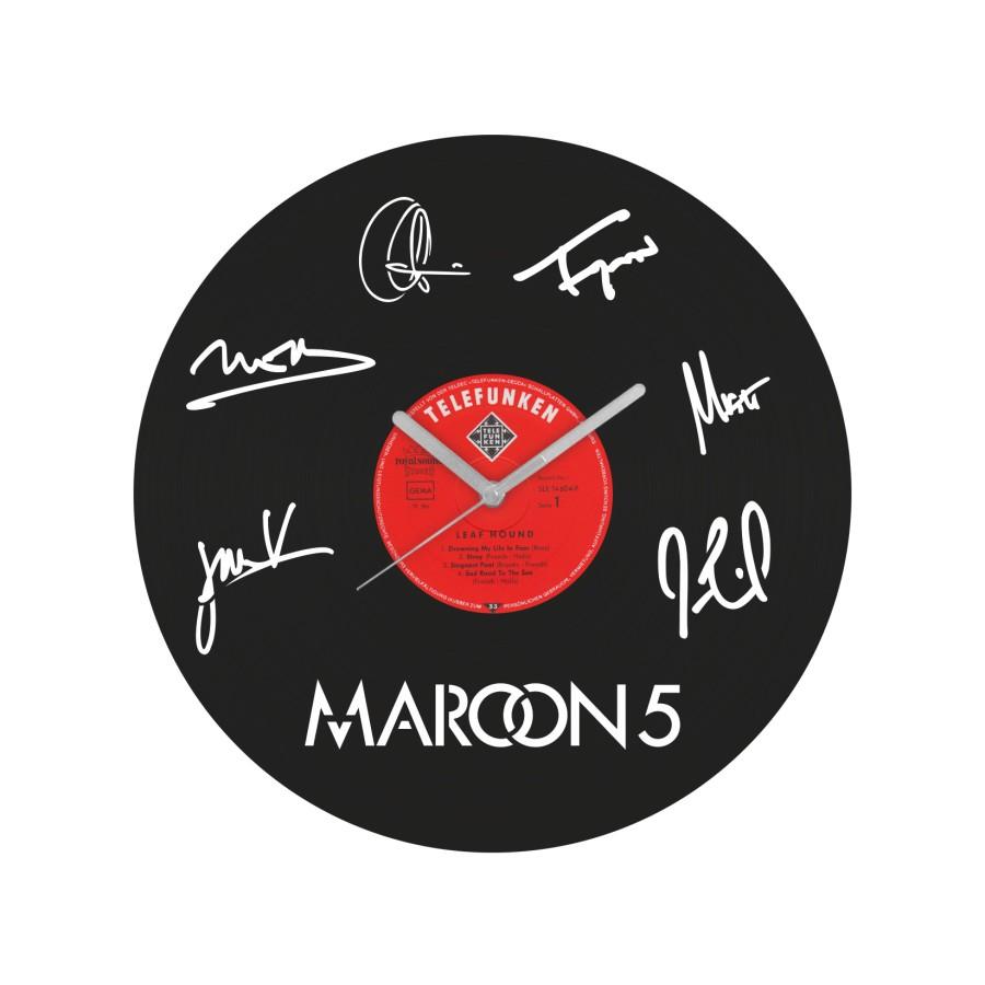 Maroon5 laikrodis iš perdirbtos vinilinės plokštelės