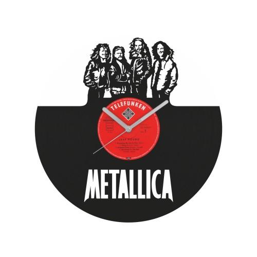 Metallica laikrodis iš perdirbtos vinilinės plokštelės