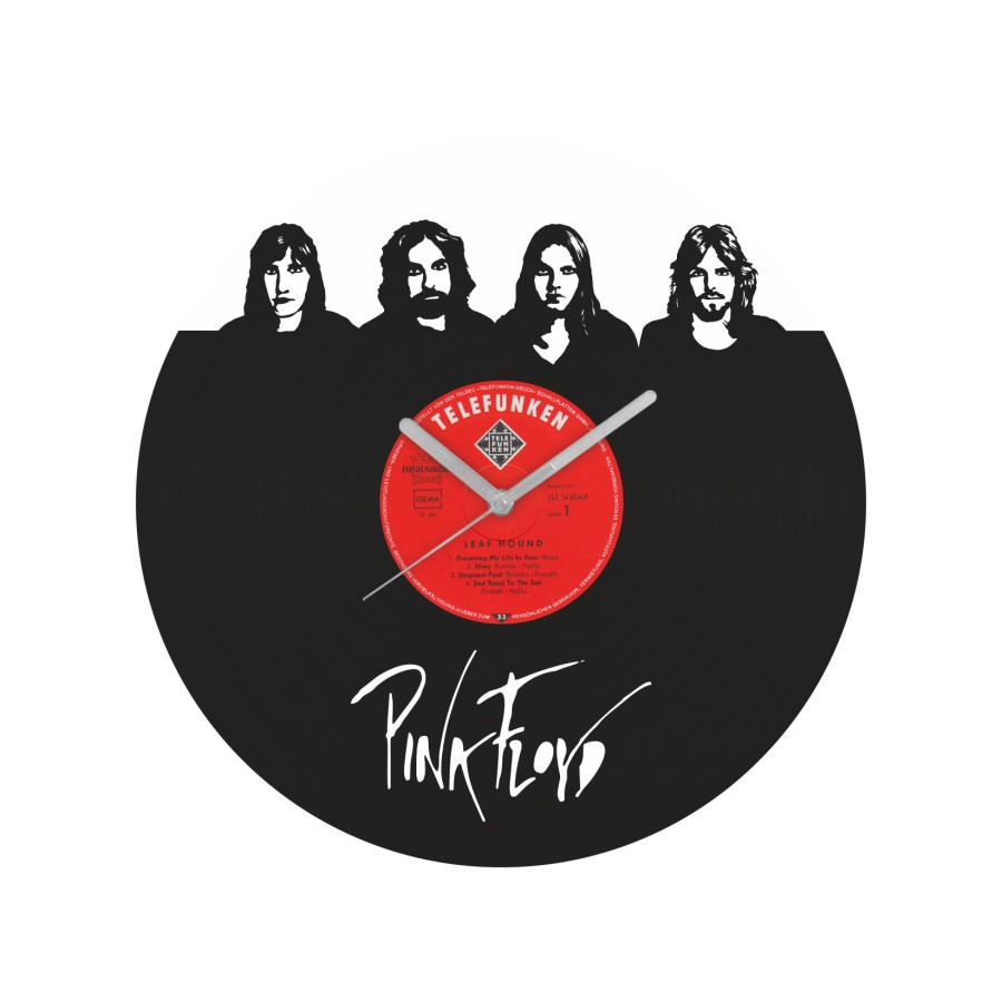 Pink Floyd v2 laikrodis iš perdirbtos vinilinės plokštelės
