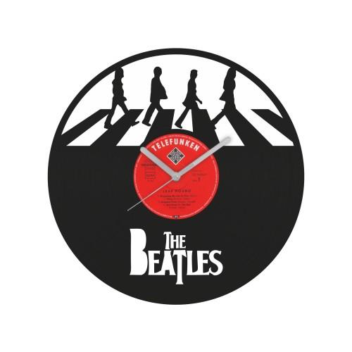 The Beatles v2 laikrodis iš perdirbtos vinilinės plokštelės
