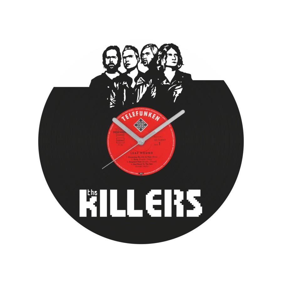 The Killers laikrodis iš perdirbtos vinilinės plokštelės