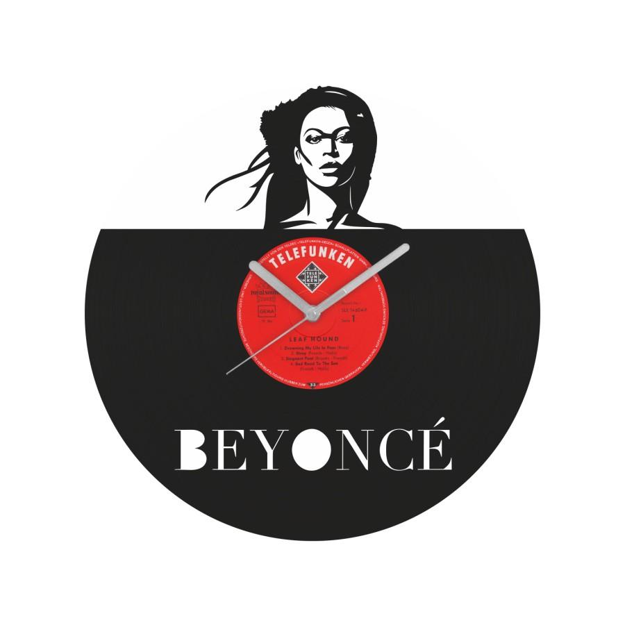 Beyonce laikrodis iš perdirbtos vinilinės plokštelės