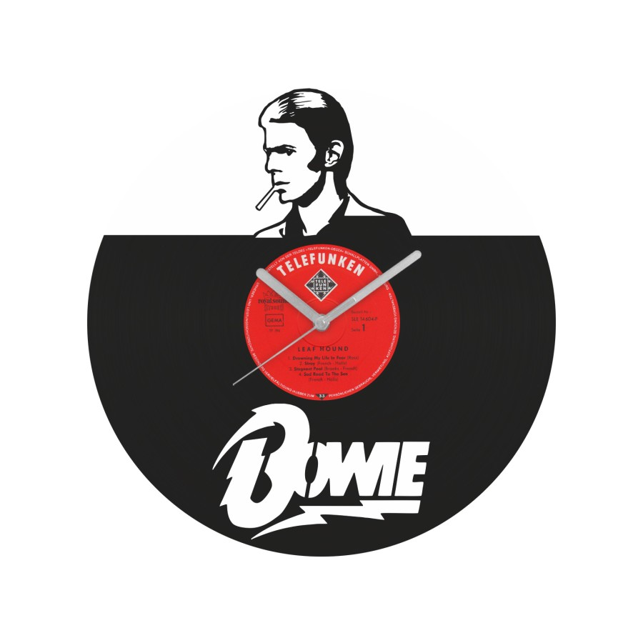 David Bowie laikrodis iš perdirbtos vinilinės plokštelės