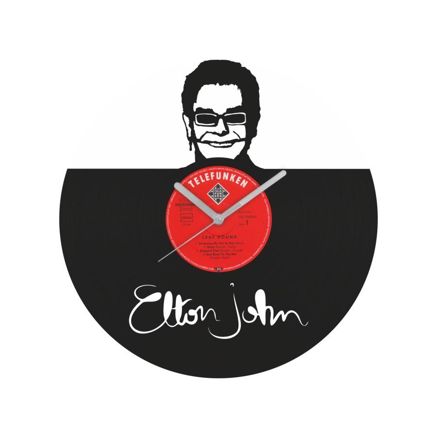 Elton John laikrodis iš perdirbtos vinilinės plokštelės