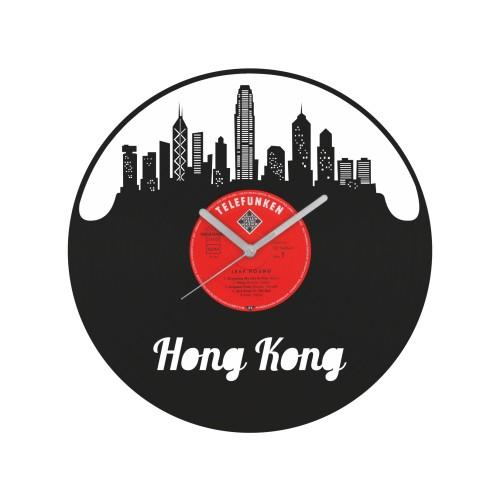 Hong Kong laikrodis iš perdirbtos vinilinės plokštelės