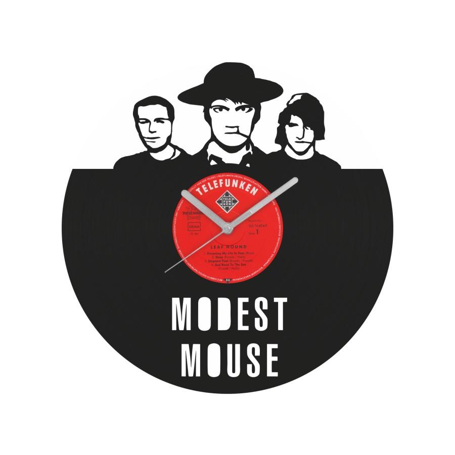 Modest Mouse laikrodis iš perdirbtos vinilinės plokštelės