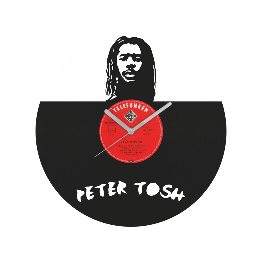 Peter Tosh laikrodis iš perdirbtos vinilinės plokštelės