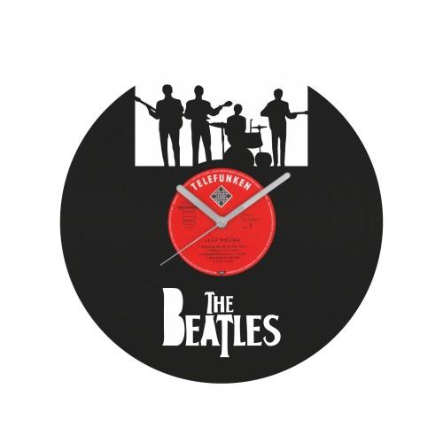The Beatles v1 laikrodis iš perdirbtos vinilinės plokštelės