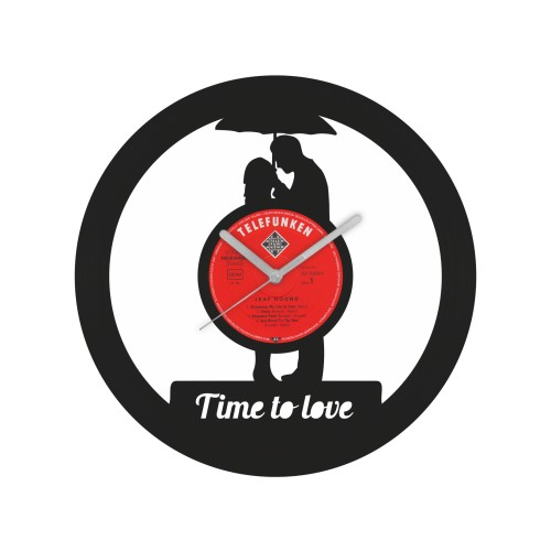 Time to love laikrodis iš perdirbtos vinilinės plokštelės